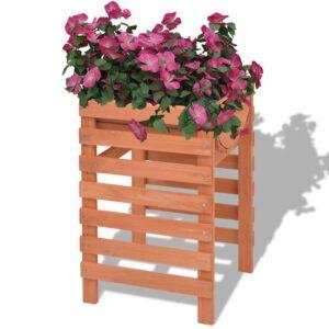Vaso para plantas 38x36x60 cm madeira - PORTES GRÁTIS