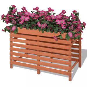 Vaso para plantas 100x50x71 cm madeira - PORTES GRÁTIS