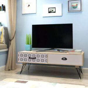 Mesa de apoio para TV 100x40x35 cm castanho - PORTES GRÁTIS
