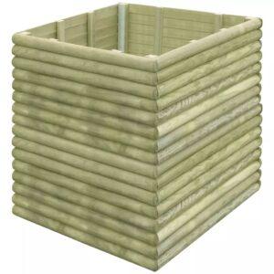 Plantador jardim 106x106x96 cm madeira pinho impregnada - PORTES GRÁTIS
