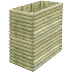 Plantador jardim 106x56x96 cm madeira pinho impregnada - PORTES GRÁTIS