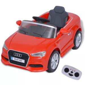 Carro Ride-on Audi A3 elétrico + controlo remoto, vermelho  - PORTES GRÁTIS