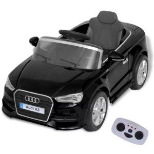 Carro de passeio Audi A3 elétrico + controlo remoto, preto - PORTES GRÁTIS