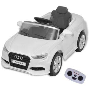 Carro Ride-on Audi A3 elétrico com controlo remoto, branco  - PORTES GRÁTIS