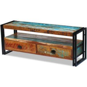 Móvel de TV, madeira sólida recuperada  - PORTES GRÁTIS