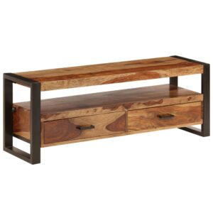 Móvel de TV em madeira de sheesham maciça 120x35x45 cm - PORTES GRÁTIS