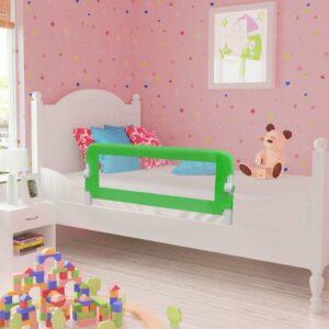Barra de segurança para cama de criança 2 pcs 102x42 cm verde - PORTES GRÁTIS