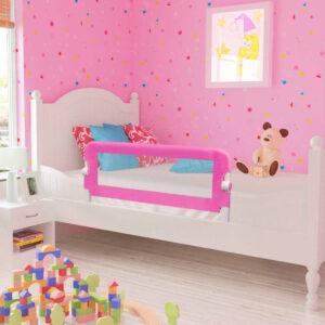 Barra de segurança para cama de criança 2 pcs 102x42 cm rosa - PORTES GRÁTIS