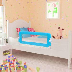 Barra de segurança para cama de criança 2 pcs 102x42 cm azul - PORTES GRÁTIS