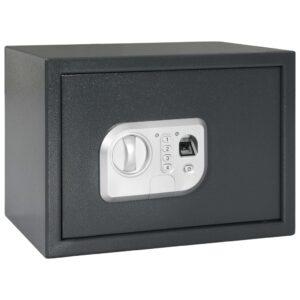 Cofre digital com impressão digital cinzento escuro 35x25x25 cm - PORTES GRÁTIS