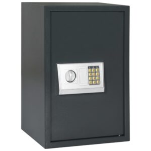 Cofre digital cinzento escuro 40x35x60 cm - PORTES GRÁTIS