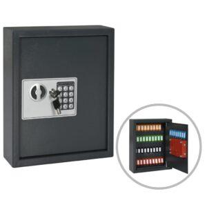 Cofre para chaves 30x10x36,5 cm cinzento-escuro - PORTES GRÁTIS