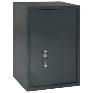 Cofre mecânico cinzento escuro 35x31x50 cm aço  - PORTES GRÁTIS