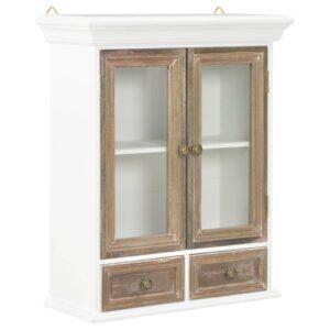 Móvel de parede 49x22x59 cm madeira maciça branco - PORTES GRÁTIS
