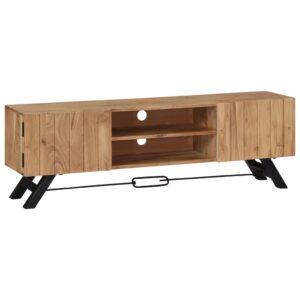 Móvel de TV 140x30x45 cm madeira de acácia maciça - PORTES GRÁTIS