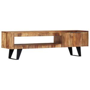 Móvel de TV 140x30x40 cm madeira de sheesham maciça - PORTES GRÁTIS