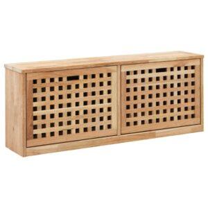 Sapateira 94x20x38 cm madeira de nogueira maciça - PORTES GRÁTIS