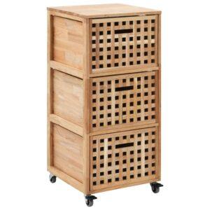 Armário de casa de banho 41x41x91 cm madeira de nogueira maciça - PORTES GRÁTIS