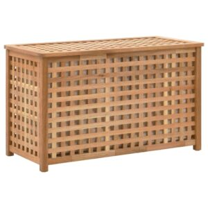 Arca p/ roupa suja 77,5x37,5x46,5 cm madeira nogueira maciça  - PORTES GRÁTIS