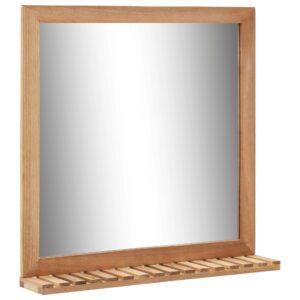 Espelho p/ casa de banho 60x12x62 cm madeira de nogueira maciça - PORTES GRÁTIS