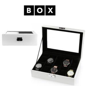 Caixa de Arrumação para 10 Relógios | Acabamento Premium | PD97