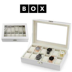 Caixa de Arrumação para 12 Relógios | Acabamento Premium | PD98