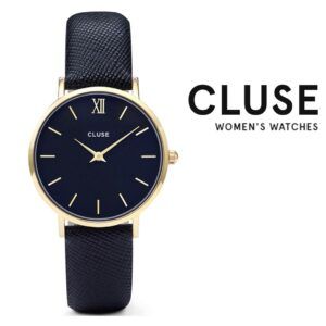 Relógio Cluse® La Bohème Minuit Gold Midnight Blue | 33 mm