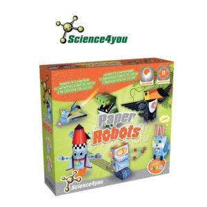 Paper Robots - Usa a Tua Imaginação e Inventa Divertidas Histórias - Science4you
