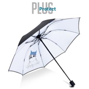 Guarda- Chuva Pequeno Plus Protect Gato Branco