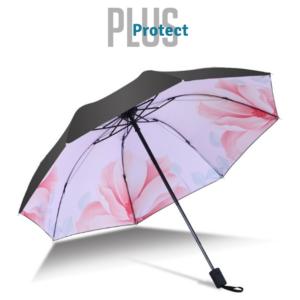 Guarda- Chuva Pequeno Plus Protect Rosa-Branco