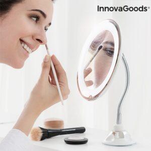 Espelho de Aumento LED com Braço Flexível e Ventosa Mizoom Wellness Beauté