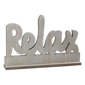 Letreiro de Madeira Relax