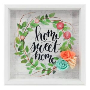 Pintura Home Sweet Home (21 x 21 x 2 cm)