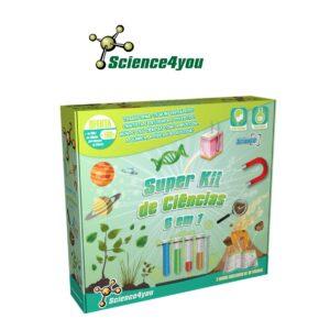 Super Kit de Ciências 6 em 1 - Transforma-te Num Verdadeiro Cientista - Science4you