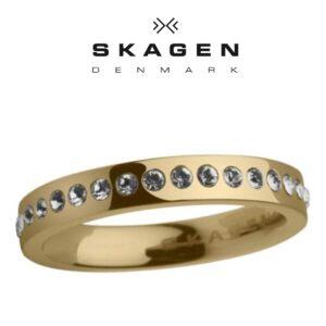 Anel Skagen® JRSG010 Com Cristais Swarovski | Tamanho 50