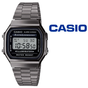 Relógio Casio®Retro Digital A168WEGG-1AEF Vintage ICONIC