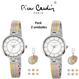 PACK 2 CONJUNTOS Pierre Cardin® Versatile Gold | Rose Gold & Silver | Relógio | Colar | 6 Brincos
