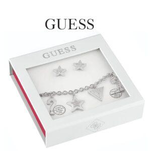 Conjunto Guess® Pulseira & Par de Brincos | Swarovski® Cristal | GEJUBT01045