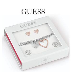Conjunto Guess® Pulseira & Par de Brincos | Swarovski® Cristal | GEJUBT01046