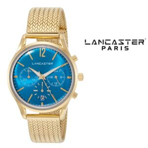 Relógio Lancaster Paris® Heritage Cronógrafo 38mm |MLP004B/YG/CL