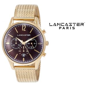 Relógio Lancaster Paris® Heritage Cronógrafo 42mm | MLP003B/YG/MR