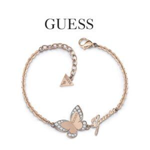 Guess® Pulseira UBB78051-L | Com Cristais Swarovski | Rosa Gold