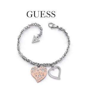 Guess® Bracelet UBB78095-L | With Swarovski Crystals | Silver and Rose Gold