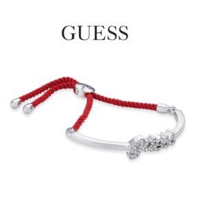 Guess® Pulseira UBB81133 | Prateado e Vermelho