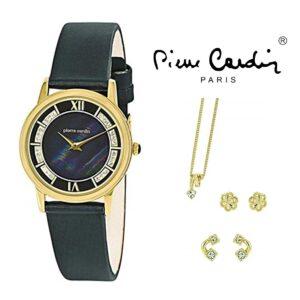 Conjunto Pierre Cardin® PCX1010L04 | Relógio | Colar | 4 Brincos
