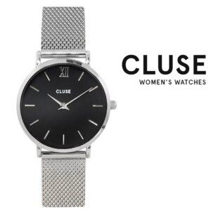 Relógio Cluse® Minuit Mesh Silver/Black | 33MM