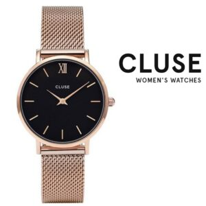 Relógio Cluse® Minuit Mesh Rose Gold/Black | 33MM