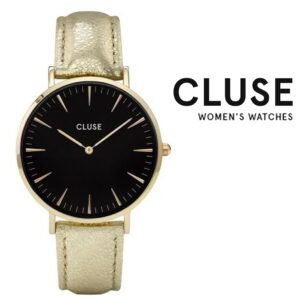 Relógio Cluse® La Bohème Gold Black Metallic | 38MM