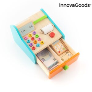 Wooden Cash Register with Accessories Kashy