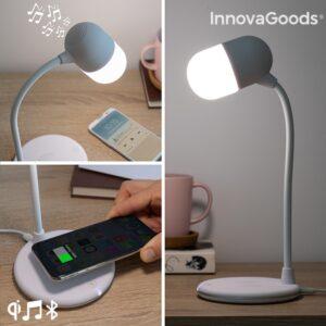 Candeeiro LED com Alta Voz e Carregador sem Fios